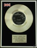 "MANFRED MANN - 7"" Platinum Disc - PRETTY FLAMINGO"
